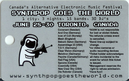 Synthpop Goes the World badge (back)